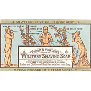 1877 Trade Card for Military Shaving Soap