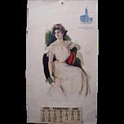 1906 Large Advertising Montgomery Ward Calendar