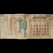 1892 Calendar w/Children
