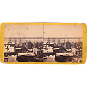 Stereoview Jersey City & Hoboken, NJ from NYC