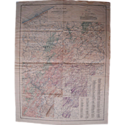 Vintage 1932 Pennsylvania OIl & Gas Geologic Map