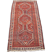 SOLD 19th Century Antique Brown Baluchi Persian Rug 3' x 6'