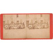 SOLD 1875 Stereoview Indians at Ft. Marion Florida