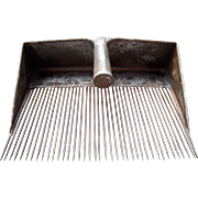 SOLD c Early 1900s Metal Flax Comb/Cranberry Rake