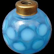 c1920s/1930s Blue and White Dot Devilbliss Perfume Bottle