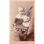 SOLD Victorian Era CDV of Girl with Doll