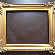 "Gold Victorian Picture Frame w/Brass Corners 8"" x 10"""