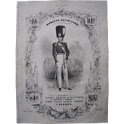 "1840 Sheet Music ""Hewitt's Quick Step"""