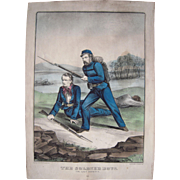 """Hand Colored Currier & Ives Civil War Print """"The Soldier Boys"""""""
