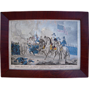 SOLD Currier & Ives Hand Colored Battle of New Orleans, 1815