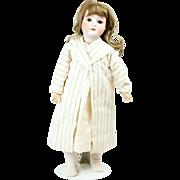 "Large 1910s German Gans & Seyfarth Bisque Head Dolly Face Doll 24"""