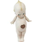 """1920s German Bisque Rose O'Neill Straight Leg Kewpie with Paper Label 5 1/2"""""""