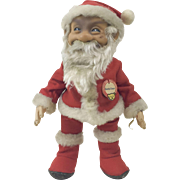 "Original 1948 - 1952 US Zone German Steiff Rubber Face Santa Claus Doll MINT CONDITION 12"""