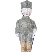 1920s German Bisque Knotter Nodder Soldier Boy 5 1/2""