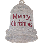 "1920s German Die-Cut Large Size ""Merry Christmas"" Bell 15"""