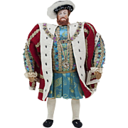 "1950s Liberty of London Historical Henry VIII Doll 11"" MINT"