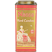 Early 1910s Necco New England Confectionery Co. Candy Tin Screw-Top Canister