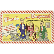 1951 King Feature Blondie & Dagwood Block Puzzle