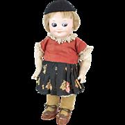 "1910s Armand Marseille #323 Googly Eyes Doll 9"""