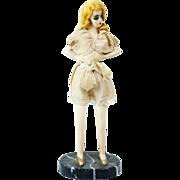 "1930s Chalk Fashion Figurine in Vintage Lingerie Orig Tags 11"""