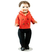 """Antique Bisque French SFJB Boy Doll in Sailor Jacket 14"""""""