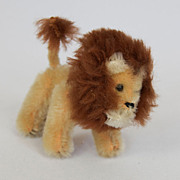 1940s Schuco Jointed Lion from Noah's Ark Collection Made in West Germany