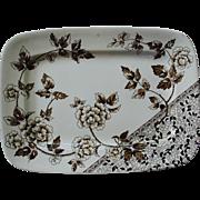 Brown Transfer Platter in the Albert Pattern