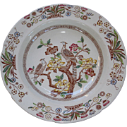 Asiatic Birds Soup plate-exotic birds, peony tree