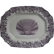 Platter of Crystal Palace-Interior view, Great Exhibition Hall in London,1851-2