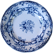 French Transferware Floral plate