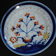 Gaudy Welsh/Dutch plate