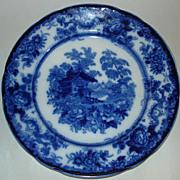 Genevese plate ,dark blue, rustic Swiss chalet