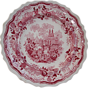 India or Temple Warriors  pattern in red transfer