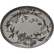 """Platter with Bird and cartouches """"Louise"""""""