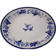 "Aesthetic Movement platter in Blue : ""Mikado"""