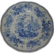 Pagoda Plate, Fruit and birds , basket, butterfly