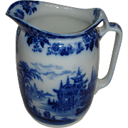 Madras Pitcher by Royal Doulton: Pagodas ,temple, River