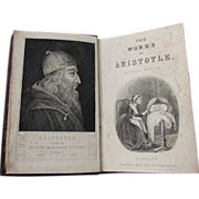 Antique 19th Century Book THE WORKS of ARISTOTLE Revised Edition J. Smith London