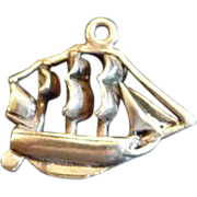 SALE Sterling Silver Clipper Ship Charm