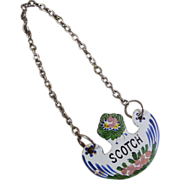 Vintage French Enamel Liquor Decanter Label