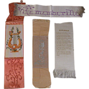 SOLD Collection of Vintage Silk Bookmarks - Red Tag Sale Item