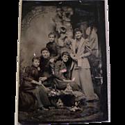 Vintage Tintype of Women