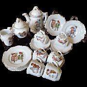 Antique Victorian Child Doll Porcelain Tea Set