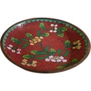 Small Chinese Cloisonne Enamel Dish