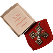 Sterling Silver Limited Edition Reed & Barton 1981 Christmas Cross Ornament Pendant