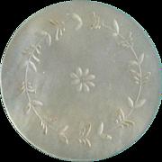 Vintage Mother of Pearl Medallion Game Chip