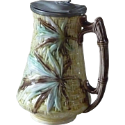 Antique English Majolica Banks & Thorley Syrup Pitcher