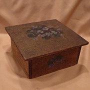 Vintage Flemish Art Pyrography Art Box
