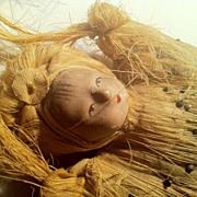 Lovely Gofun Doll Head Pin Cushion