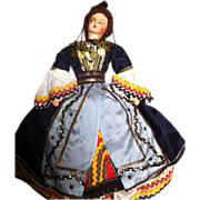 SALE Cloth Doll with Ethnic Costume